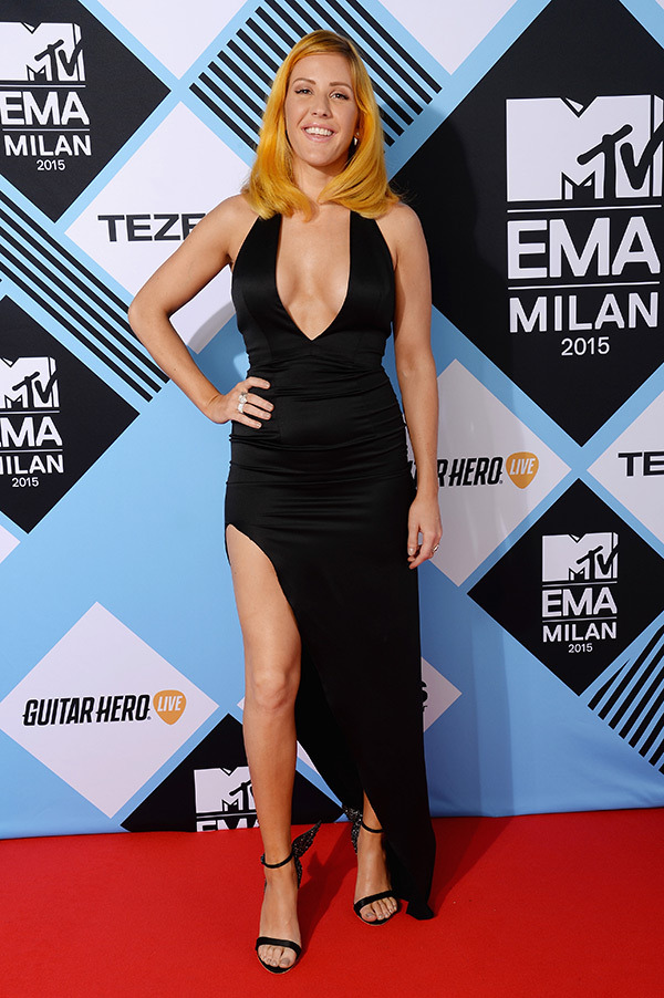 ellie goulding ema 2015 orange hair