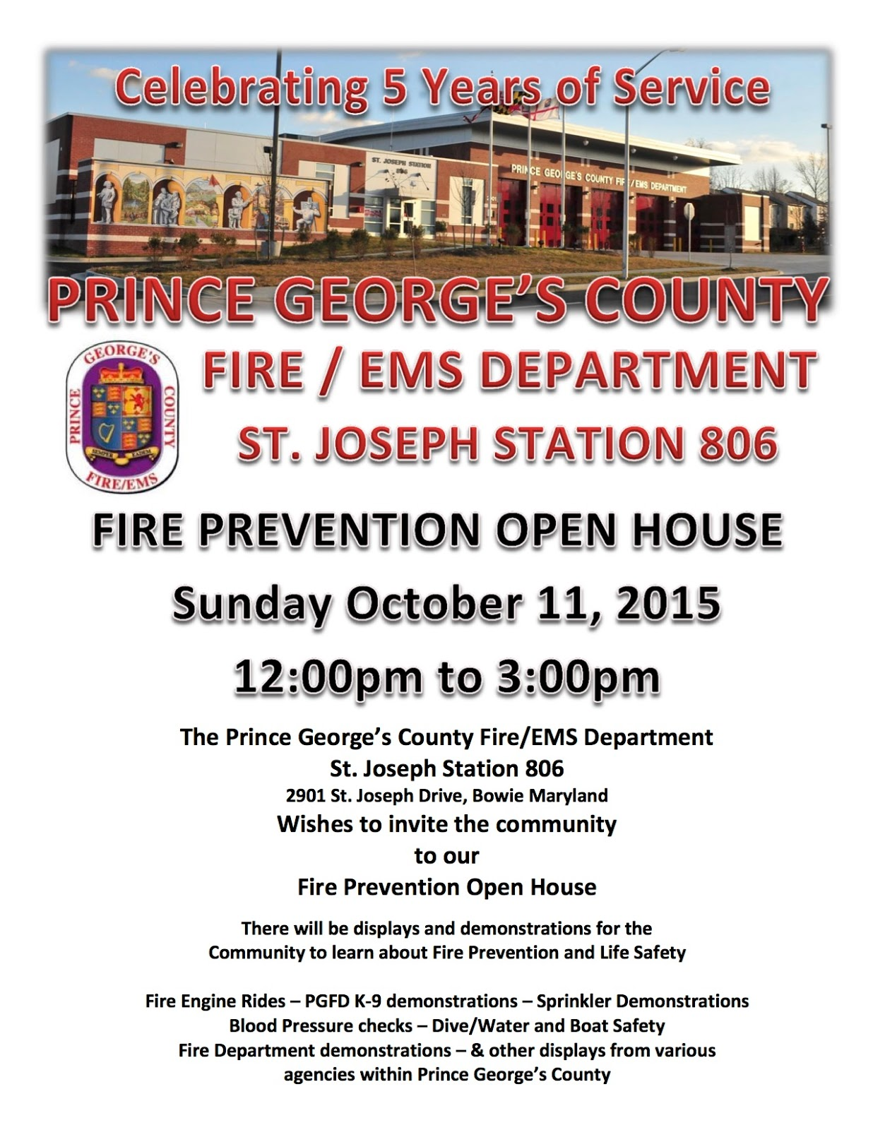 Prince george 39 s county fire ems department open houses for Fire safety house
