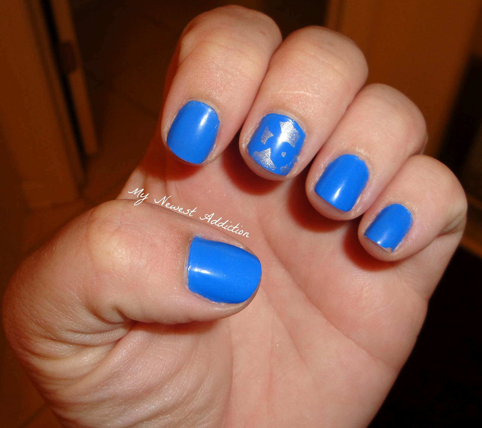 Sally Hansen Pacific Blue and a star stamp of Sally Hansen Celeb City!