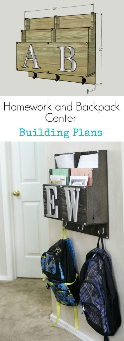 how to build backpack and homework station