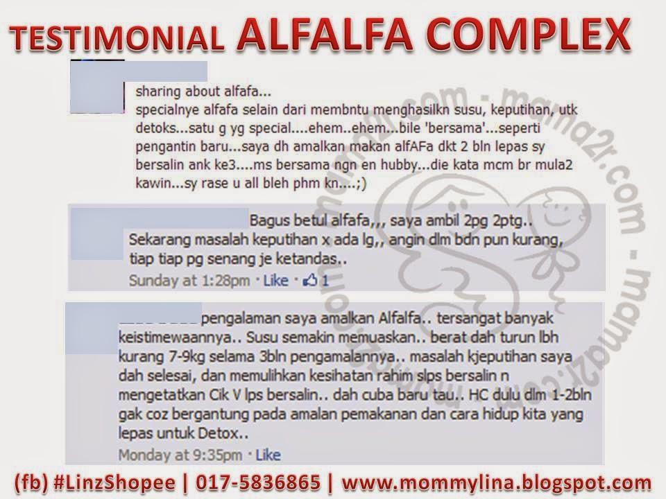testimonial alfalfa complex shaklee