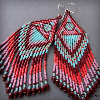 купить авторские украшения хэндмейд beaded earrings