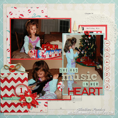 Christmas Layout_Musical Gifts_Daughter