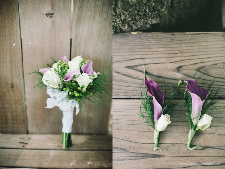 """purple and ivory wedding flowers"""