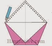 Bước 5: Dùng dao cắt giấy cắt theo đường đứt đoạn.