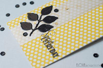 открытка штамп , надпись эмбоссинг, радость, желтый яркий черный