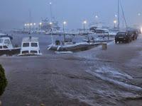 Jako nevrijeme i kiša, Sumartin slike otok Brač Online