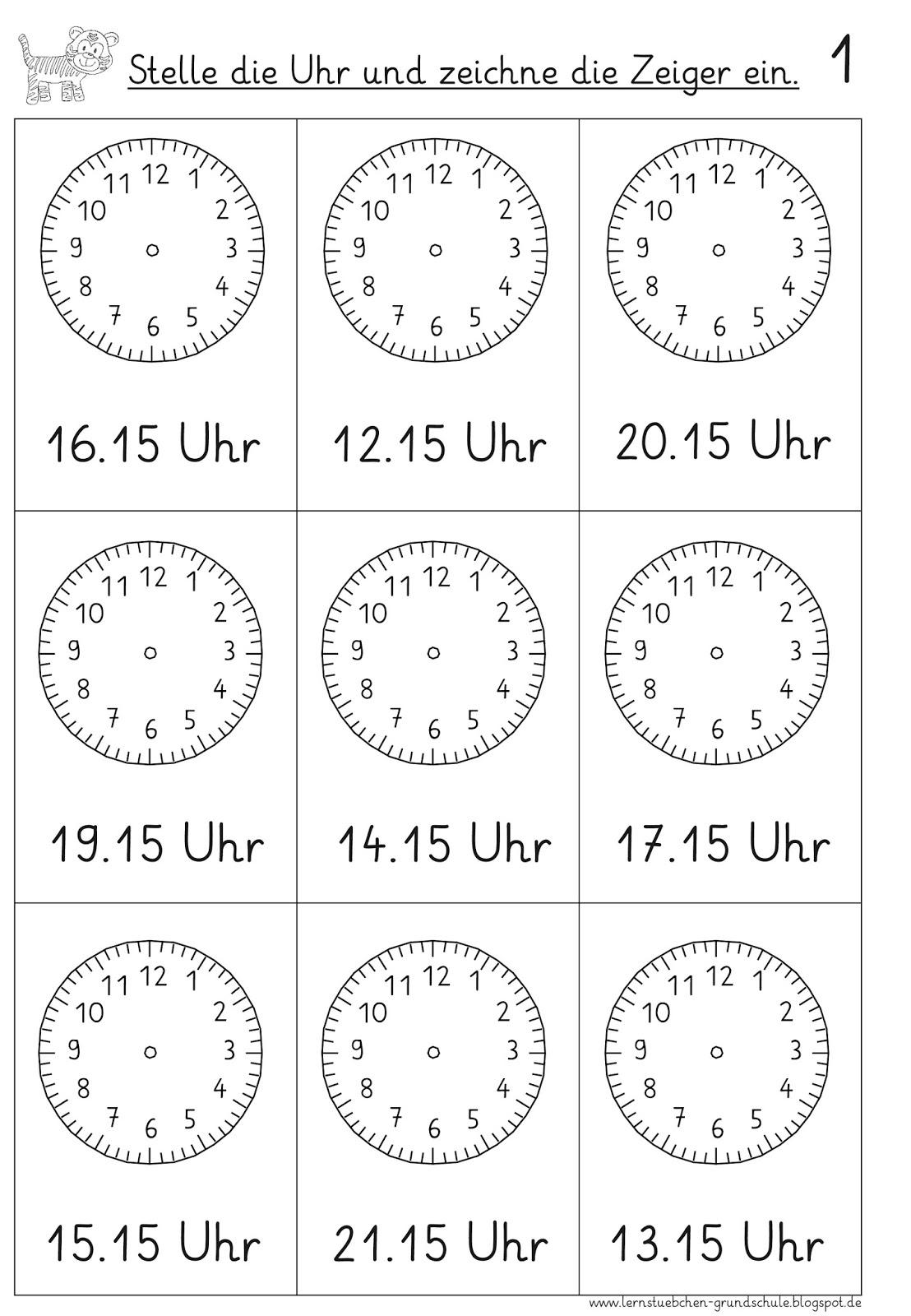 Arbeitsblatt: Jahres-Uhr beschriften/basteln
