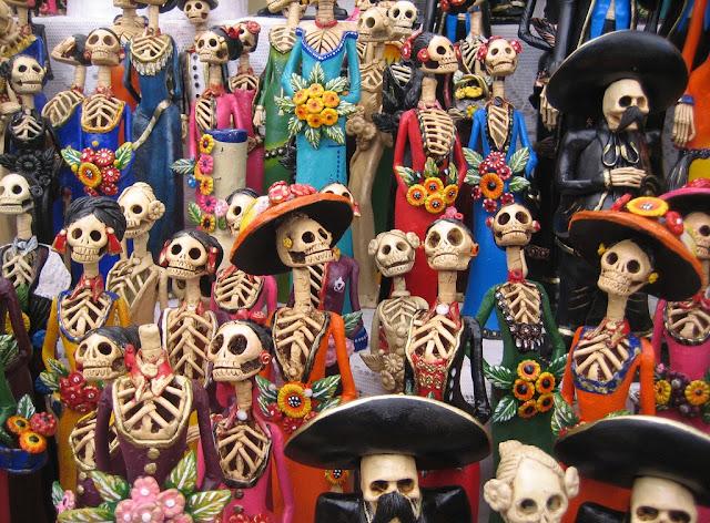 dia de los muertos,tiny skulls,cute