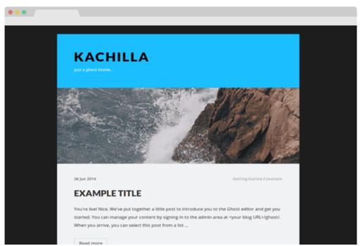 Kachilla ghost theme