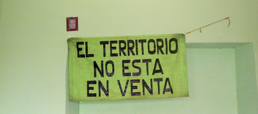 EL TERRITORIO NO ESTÁ EN VENTA