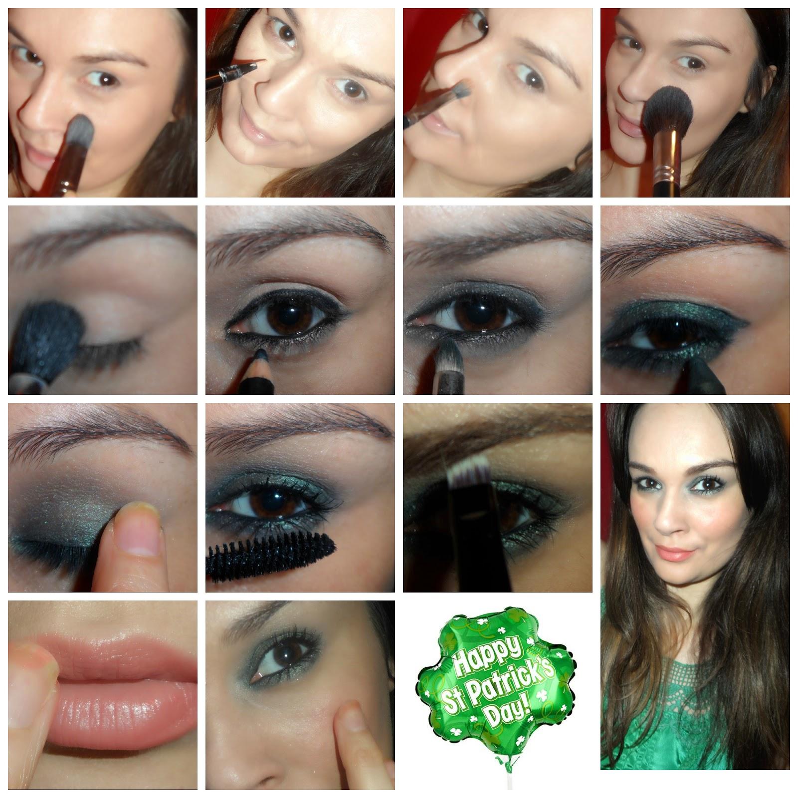 beautiful me plus you: Easy Green Smokey Eye for the St ...