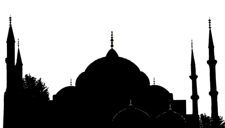Stock Pictures: Silhouettes of Mosques