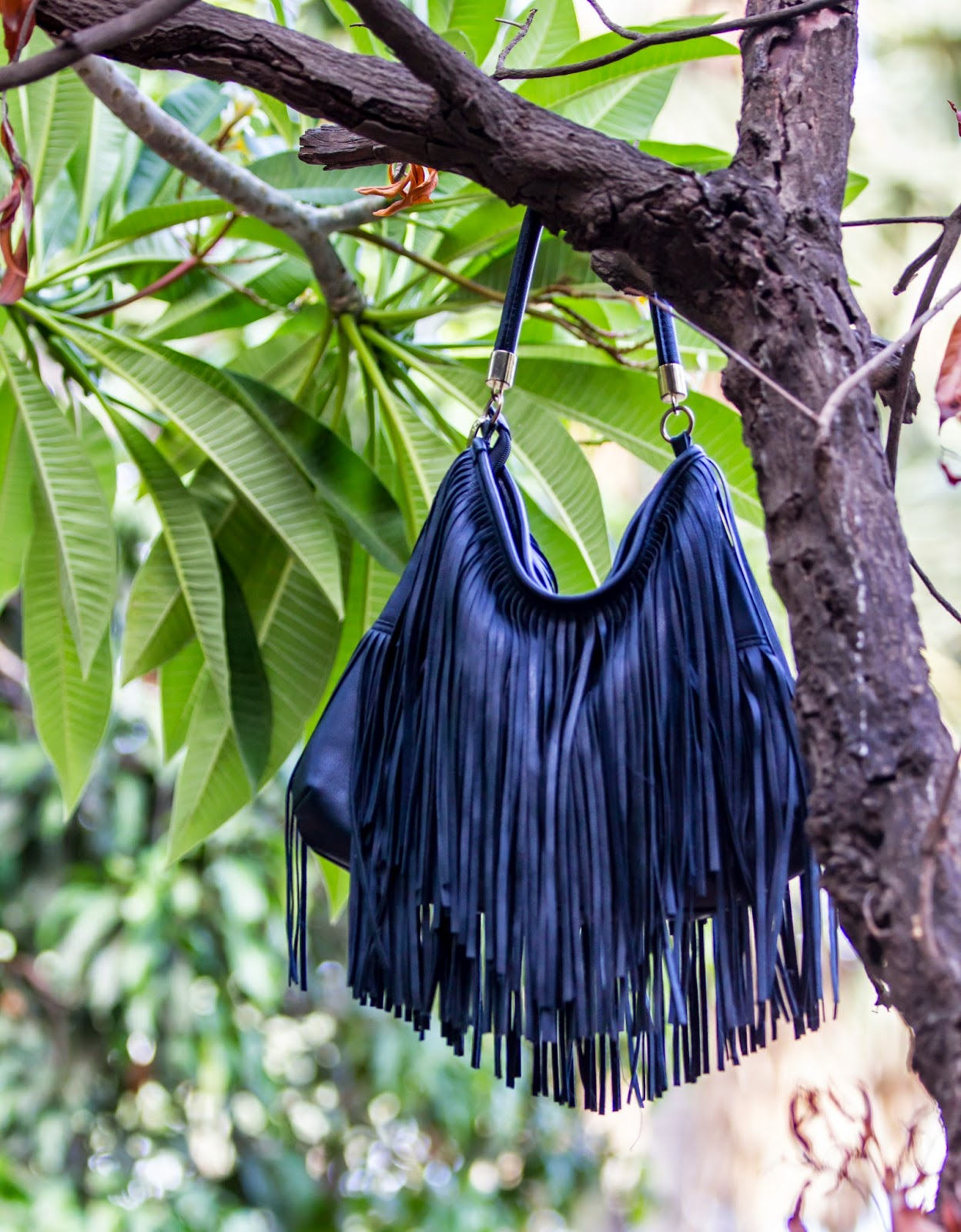 H&M Black Fringe Bag