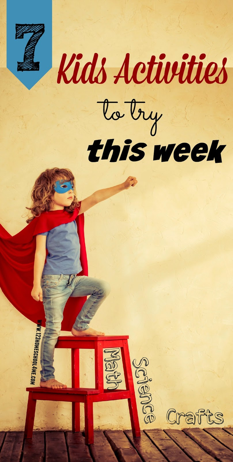 7 Kids Activities to Try This Week - Science experiments. Pasta Math, Flower Crafts, Big Hero 6 and other fun ideas kid of all ages will love.