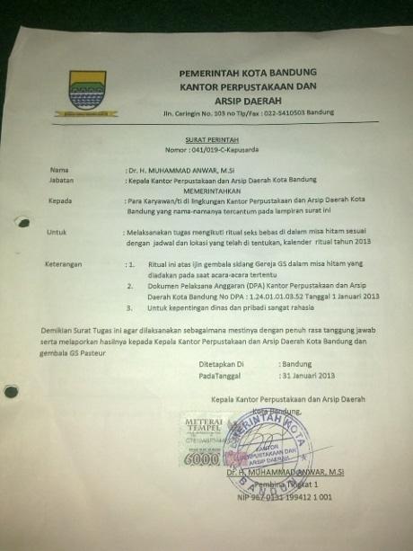 Abdul Rakhman: Surat Tentang Ritual Seks Bebas PNS Bandung Itu Palsu
