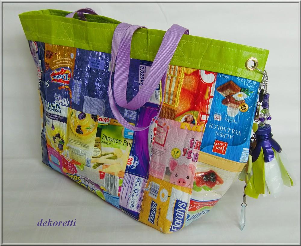 Dekorettis Welt Die 2 Plastiktüten Upcycling Tasche