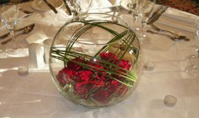 Wedding Decorations, Red Centerpieces and Arrangements