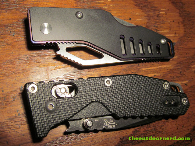 Sanrenmu B787 Pocket Knife shown with Sanrenmu 763 - Bottle openers
