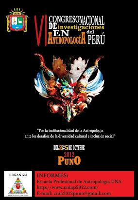 VI Congreso Nacional de Investigación en Antropología del Perú
