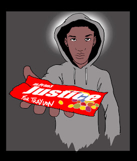 Cartoonish Trayvon Martin With Skittles Art