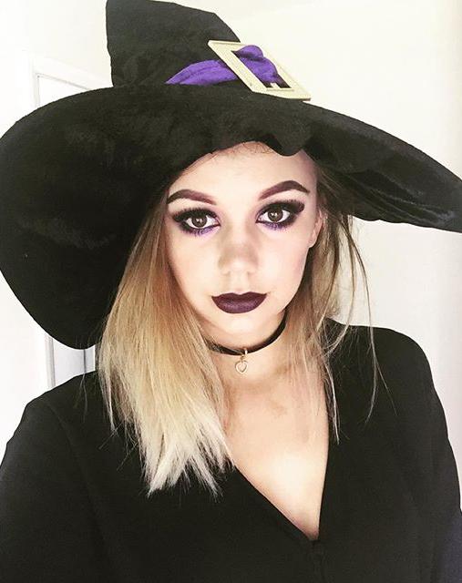 halloween make up strega