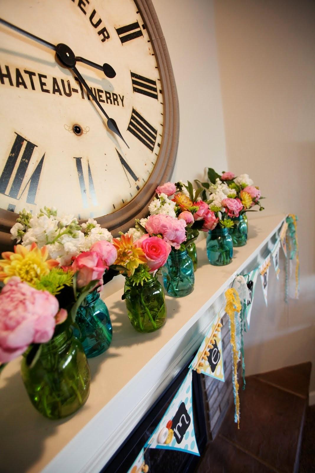 DIY Floral Jars