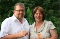 Helga und Peter J. König im Gespräch mit Susanne und Dietmar Mittwich- Weingut Mittwich/Nahe