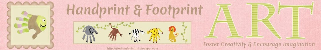 Fun Handprint and Footprint Art