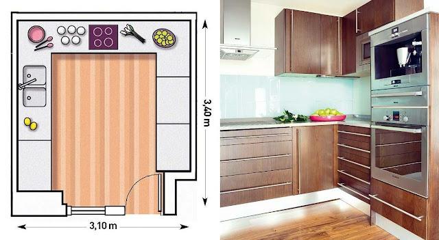 Axioma arquitectura interior qu distribuci n necesita mi cocina - Distribucion cocina cuadrada ...