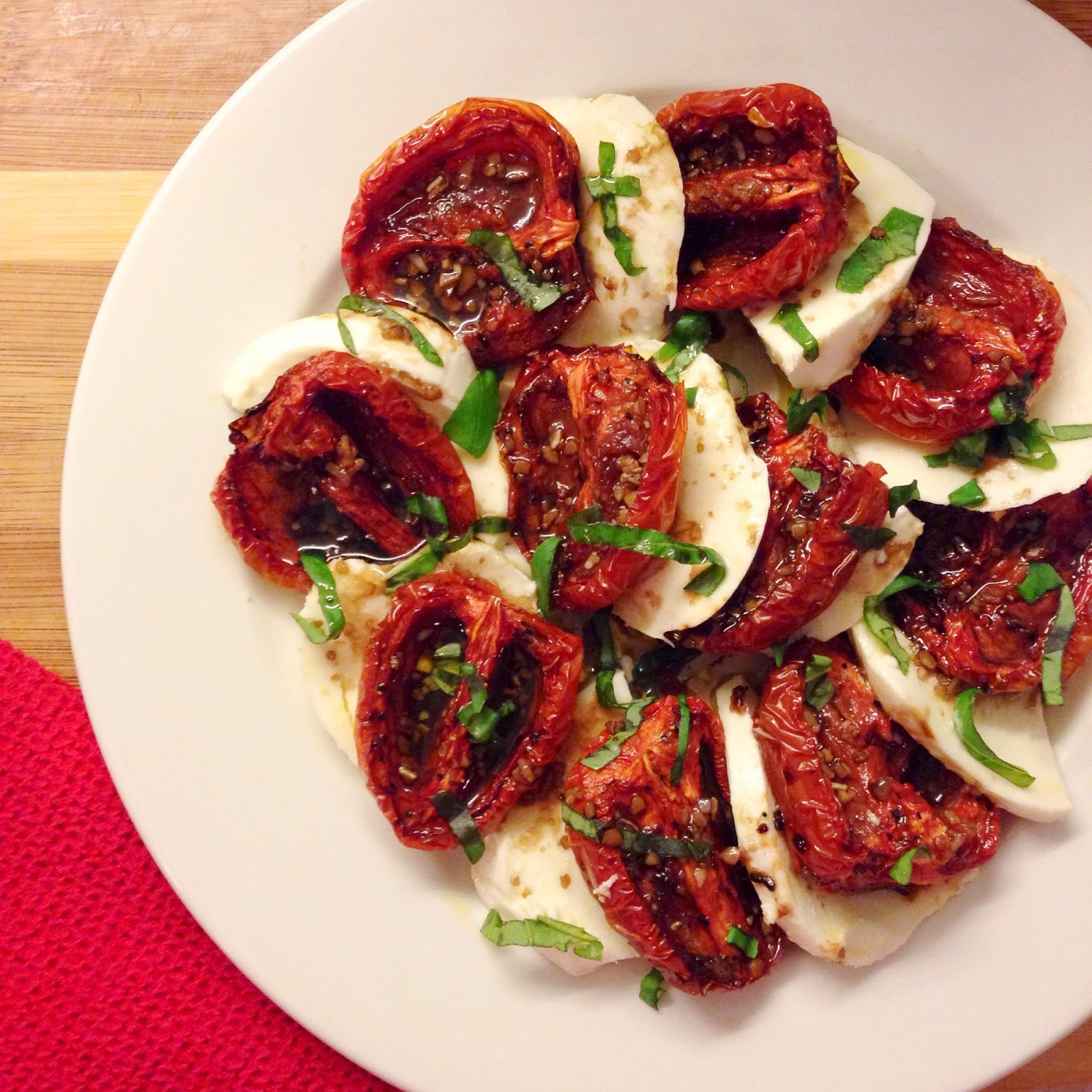 Roasted Tomatoes Ina Garten all kinds of lovely: eat: roasted tomato caprese salad
