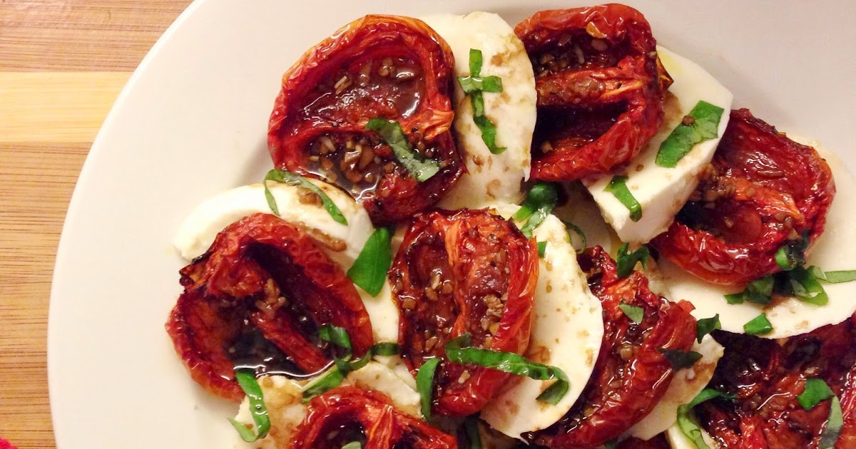 all kinds of lovely: eat: roasted tomato caprese salad