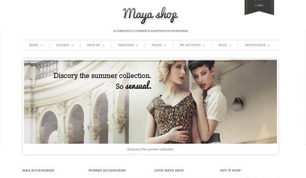 Mayashop Wordpress Theme