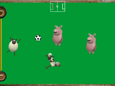 Screenshot of my Shaun the Sheep Football game