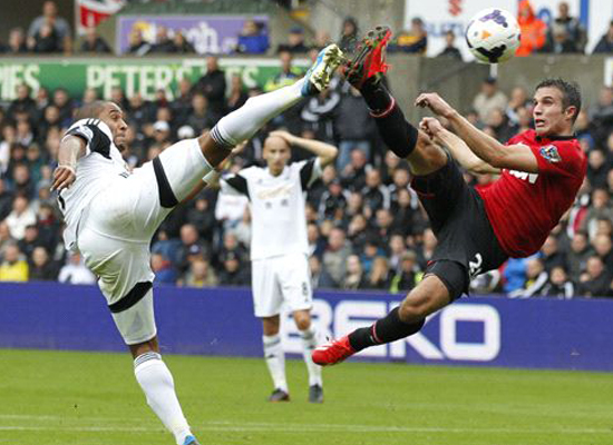 swansea city 1 vs 4 manchester united manchester united results