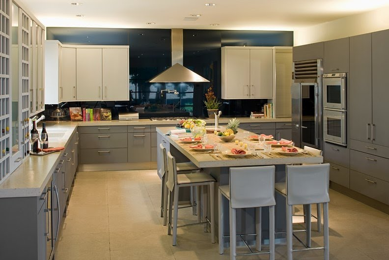 Bricolage e Decoração Ideias Decorativas de Cozinhas Grandes # Dicas De Decoracao Para Cozinha Grande