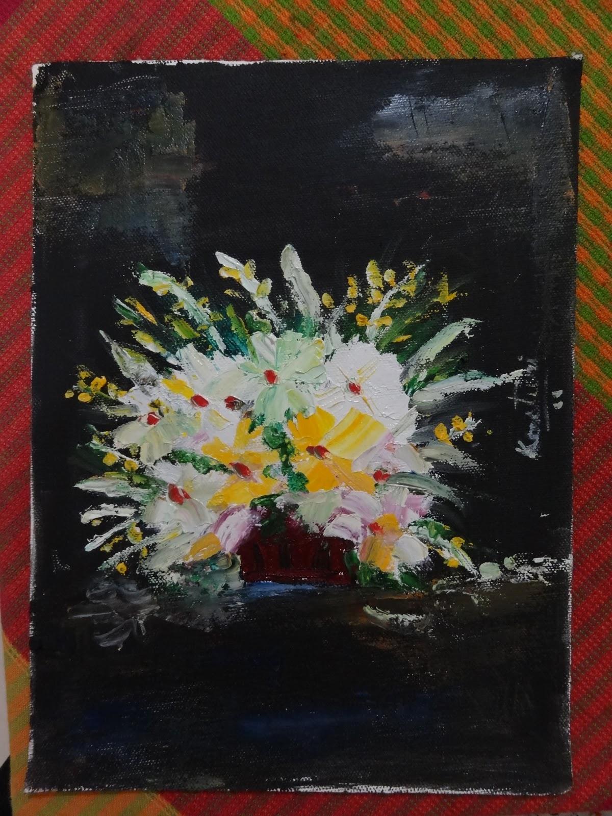 Art By Kasturi Borkotoki Quite White Oil On A4 Size Canvas Sheet