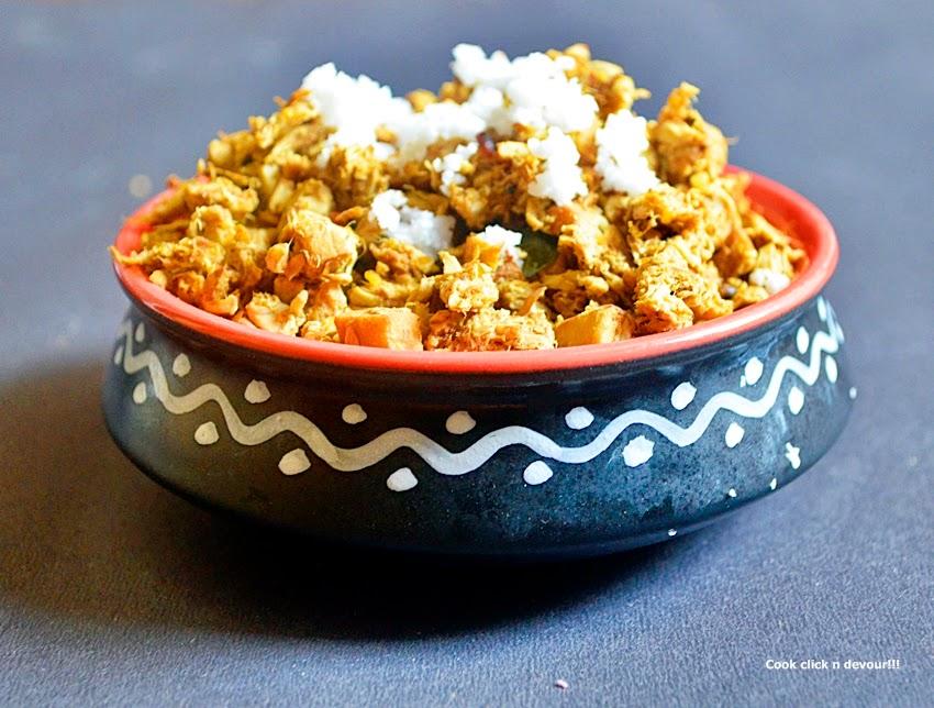 raw-tender jackfruit curry recipe | pala pinju/musu poriyal recipe | how to make raw jackfruit curry