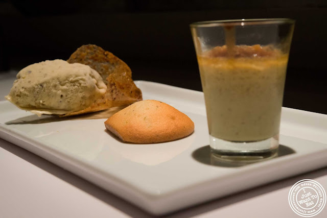 image of pistachio three ways dessert at Aroma Kitchen and Wine Bar