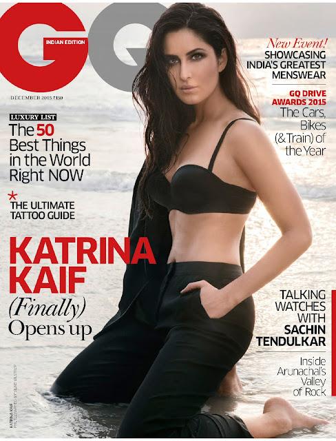 Actress, Model, @Katrina Kaif - GQ India, December 2015