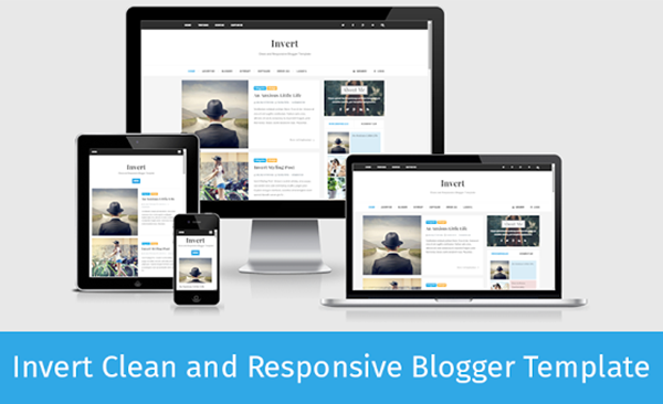 Invert Responsive Blogger Template