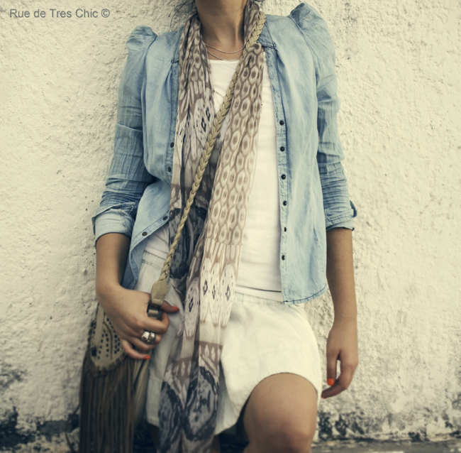 denim shirt skirt vintage fashion photography blog style