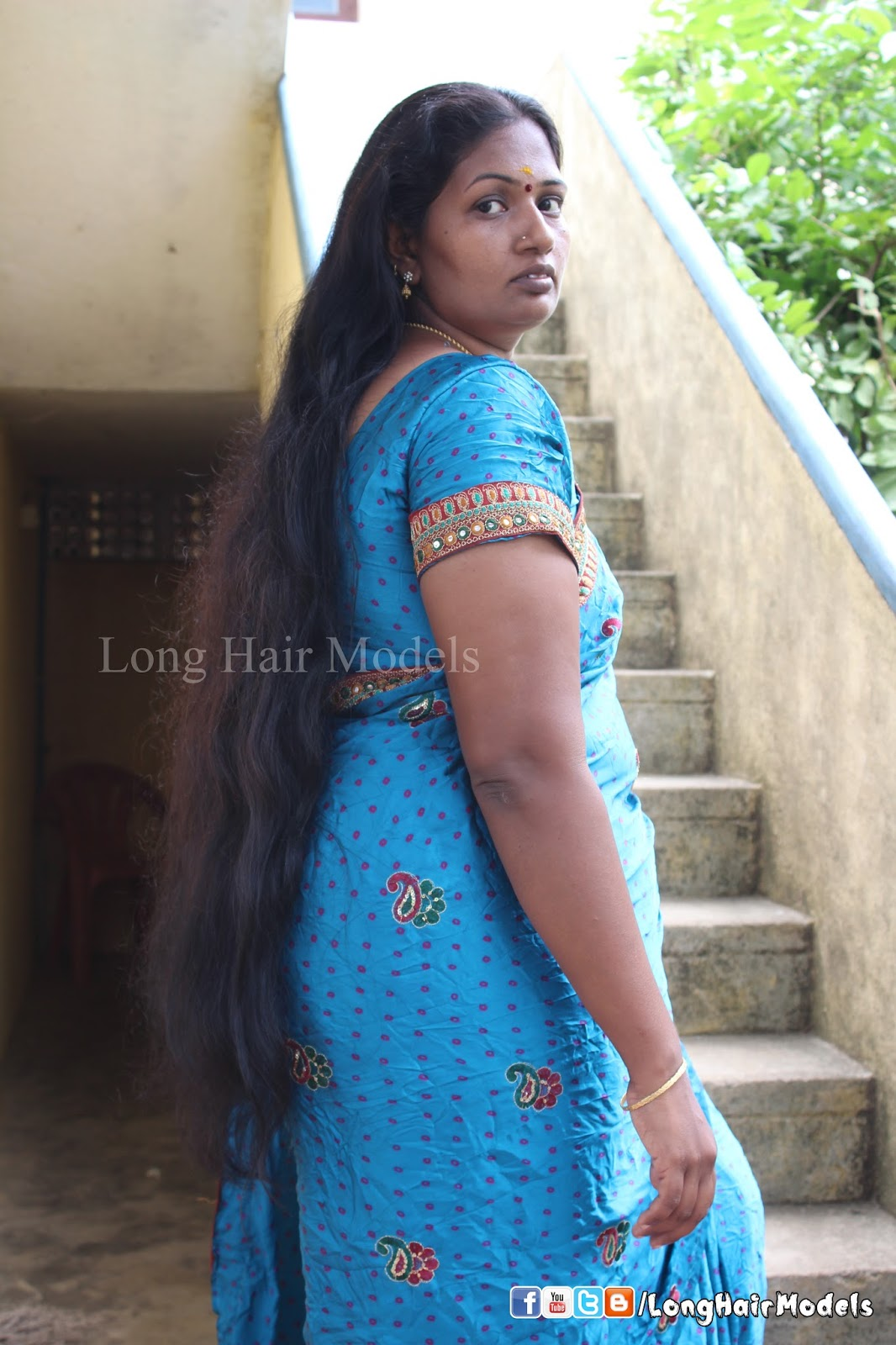 long hair models: