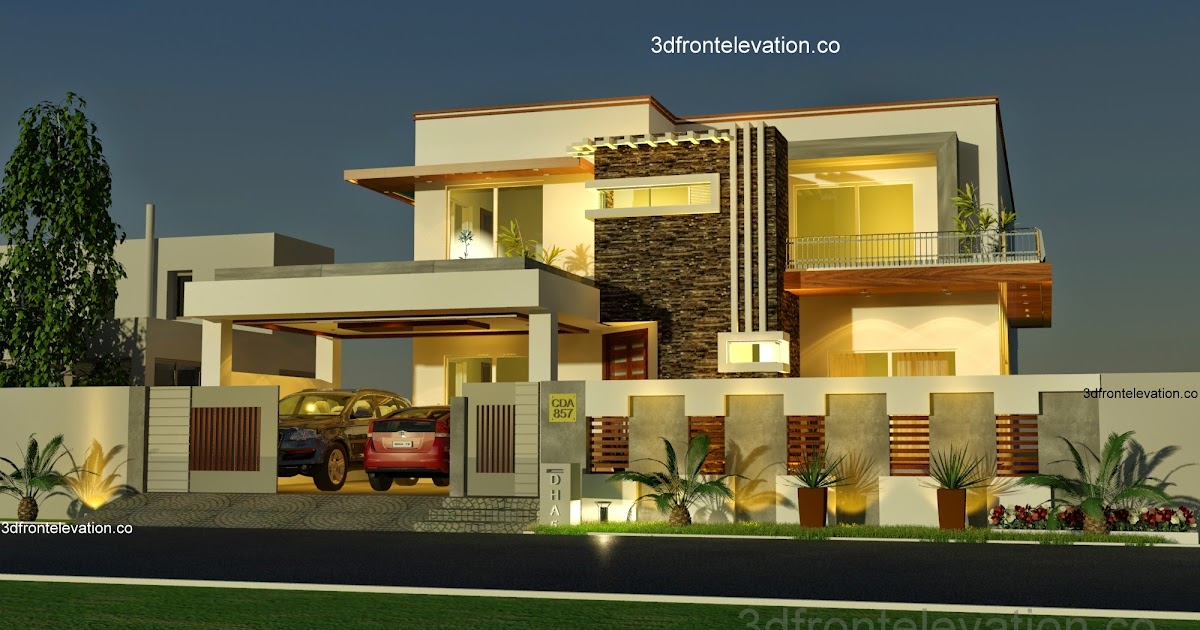 D Front Elevation Of Houses In Islamabad : D front elevation kanal house plan layout