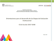 Orientaciones Evaluación Institucional 2017-2018