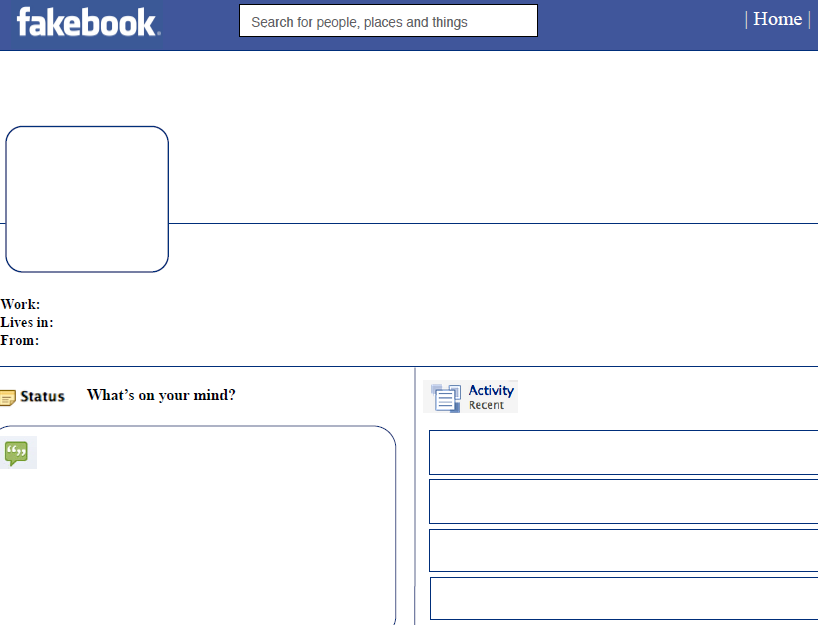 Facebook template that you can customize.click here
