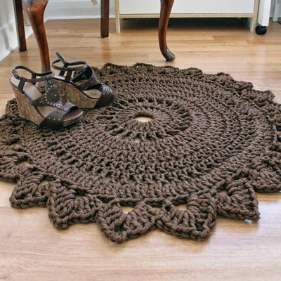Patrones trapillo alfombra de trapillo a crochet - Alfombras ganchillo trapillo ...