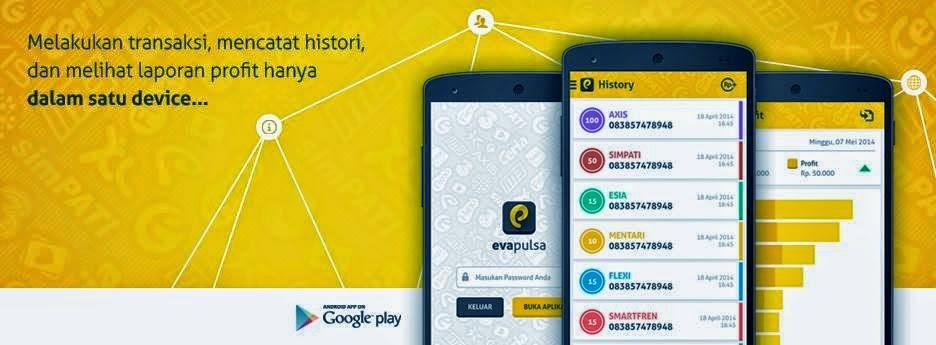 Evapulsa, aplikasi jualan pulsa di android gratis