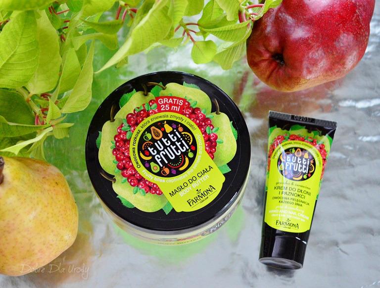 Farmoną masło do ciała Gruszka & Żurawina Tutti Frutti