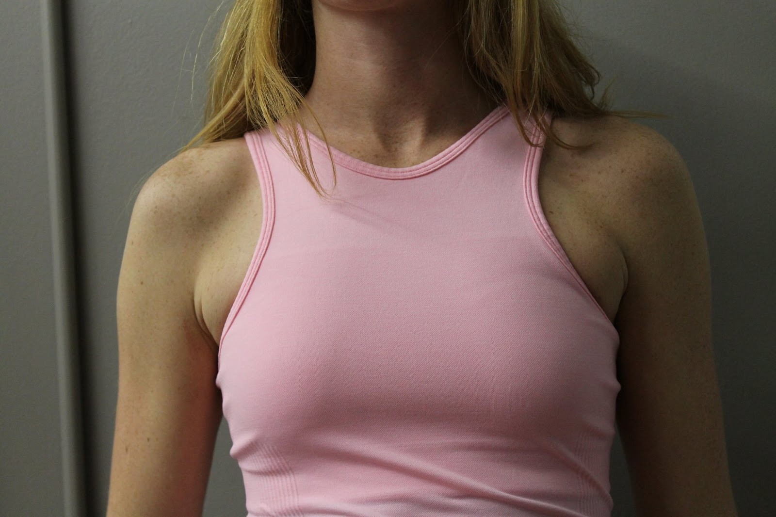 lululemon rose bud seamlessly covered tank